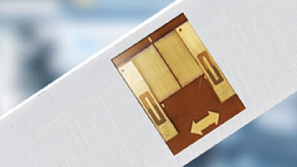 Nanoteilchen basierter Dehnungsmessstreifen.