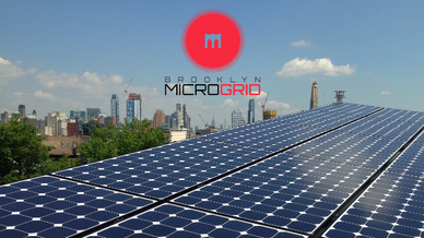 Eine Photovoltaikanlage, die im Blockchainprojekt in Brooklyn eingebunden ist.