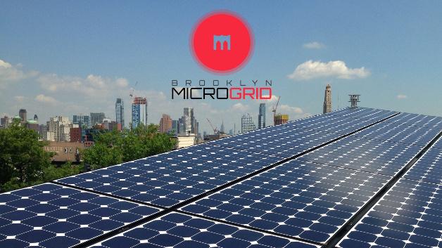 Eine Photovoltaikanlage, die im Blockchain-Projekt Brooklyn MICROGRID eingebunden ist.