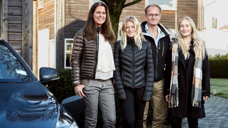 Die Familie Hain aus Göteborg ist die erste, die für die Teilnahme eines Forschungsprogramms zum autonomen Fahren ausgewählt wurde.