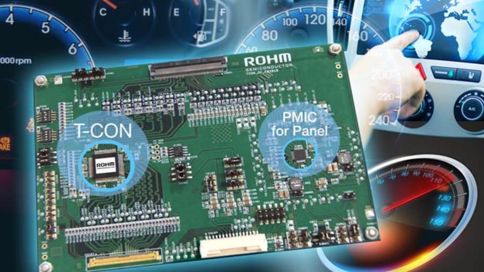 Die neue Chipsets für LCDs von Rohm und Lapis Semiconductor sind optimiert für funktionale Sicherheit.