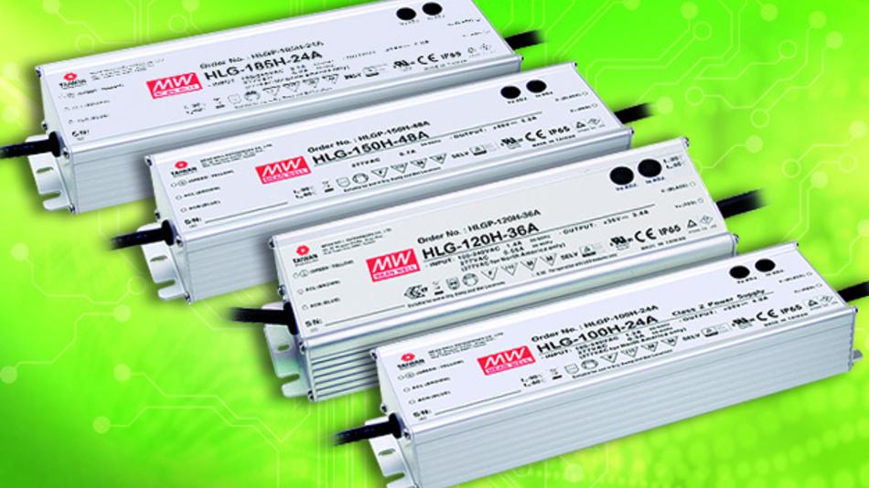 Die neuen LED-Stromversorgungen der HLG-Serie von Mean Well sind auch für raue Umgebungen geeignet.