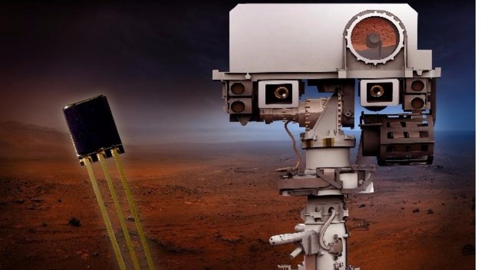 Die robusten Hall-Effekt-Sensoren werden im Steuersystem des Roboterarms des Mars Rovers arbeiten.