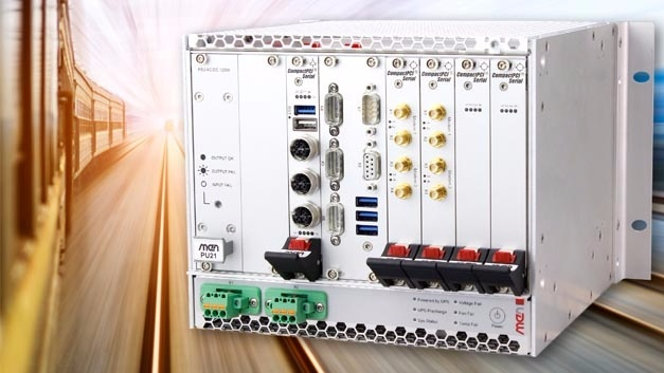 Das Bord-Rechnersystem MH70R steuert nicht-sicherheitsrelevante Funktionen in Zügen und kann mit CompactPCI-Serial-Karten vielseitig erweitert werden.