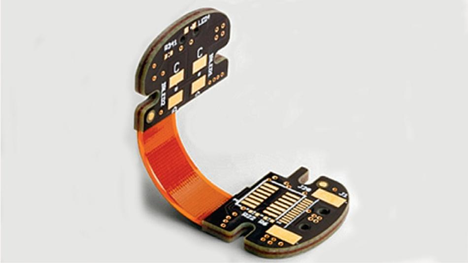 Bild 1. Starr-Flex-Leiterplatten sind für Anwendungen wie Wearables ideal, wo es auf eine kleine Baugröße und ein geringes Gewicht ankommt.