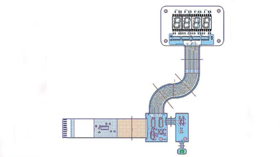 Bild 3. Biegebereich, Biegelinien und Flächen im Starr-Flex-Design bestimmen die Regeln für das Leiterplatten-Layout.