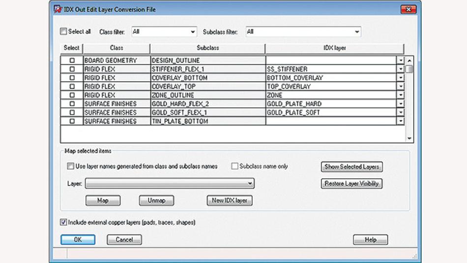 Bild 4. Screenshot, welcher mit einer tabellarischen Aufstellung den Datenaustausch zwischen ECAD- und MCAD-Abteilung dokumentiert.