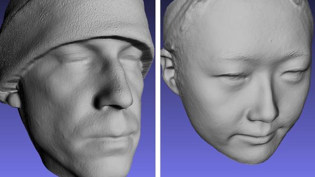 Die Face Camera von Bellus 3D scannt Gesichter und erstellt dreidimensionale Modelle.