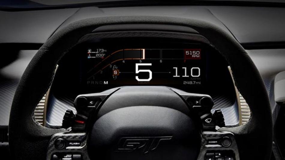 Für die GT-Serie hat Ford ein neues digitales Cockpit entwickelt.