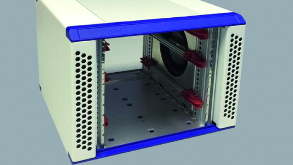 Als Tischgehäuse oder als 19-Zoll-Einschubgehäuse verwenden lässt sich Mays kompaktes Gehäuse auf Basis des Schroff RatiopacPRO.