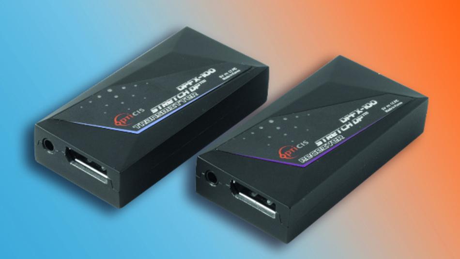 Eine Übertragungsrate von 10,8 GBit/s in 4k-Auflösung über eine Entfernung von bis zu 100 Meter ist mit Opticis' DisplayPort-Extender dank Dual Mode DP++ möglich.