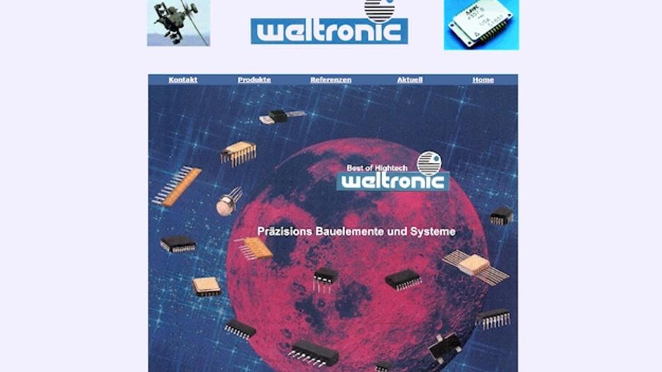 Startseite der Fa. Weltronic