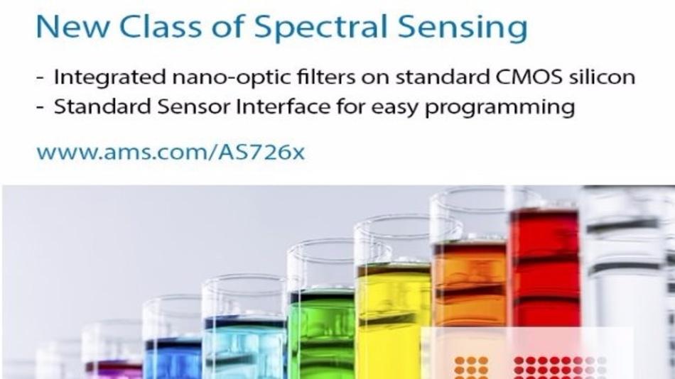 Für eine neue Generation in der Spektralanalyse sorgen die neuen Sensor-on-Chips von ams.