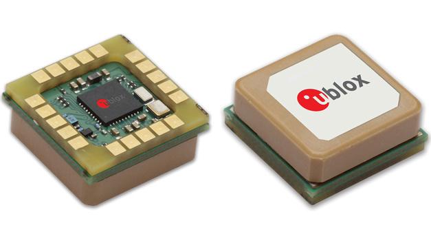 GNSS-Empfängermodul mit integrierter Antenne SAM-M8Q von der u-blox AG für GPS, GLONASS und Galileo.