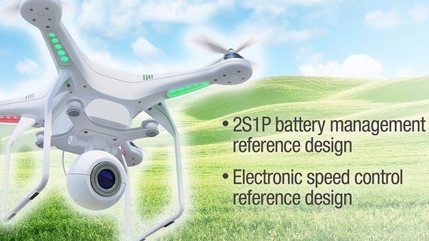 Zwei Referenzdesigns für das Batteriemanagement und die Motorsteuerung können die Effizienz von Multicoptern verbessern.