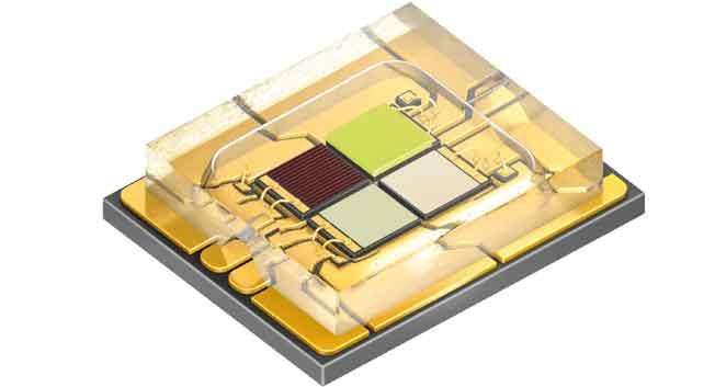 Einige Komponenten einer LED werden zum Schutz vor Umwelteinflüssen beschichtet. Der Trend zu immer kleineren Gehäusen und zur Verarbeitung mittels Drucktechnik stellt neue Anforderungen an die Beschichtungsmaterialien.