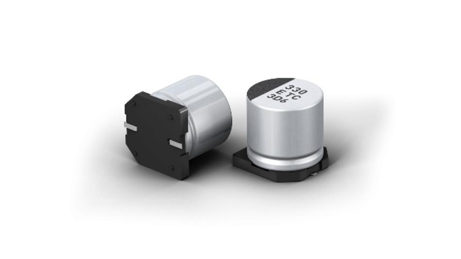 Noch rippelstromfester bei 125 °C: Panasonic Aluminium-Elektrolytkondensatoren