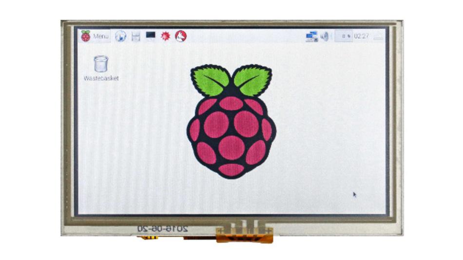 Eine Auflösung von 800 x 480 Pixel hat Winstars entspiegeltes 5-Zoll-TFT-Modul für Raspberry Pi.