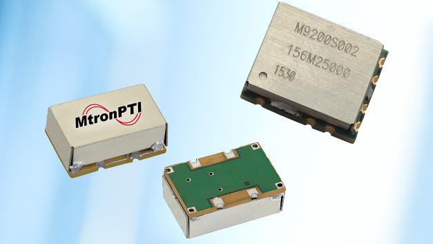 Wahlweise mit den Frequenzstabilitäten ±20, ±25 oder ±50 ppm über den Temperaturbereich von -40 bis +85 °C gibt es MtronPTIs Quarzoszillator-Serien M2058/59 und M2060/61.