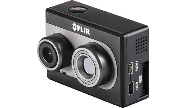 Ein Wärmebildsensor mit 160 x 120 Pixeln und eine HD-Kamera (1920 x 1080) in einem 84 Gramm leichten Modul - Flir Systems aktuelle Wärmebildkamera für die Flugthermografie.