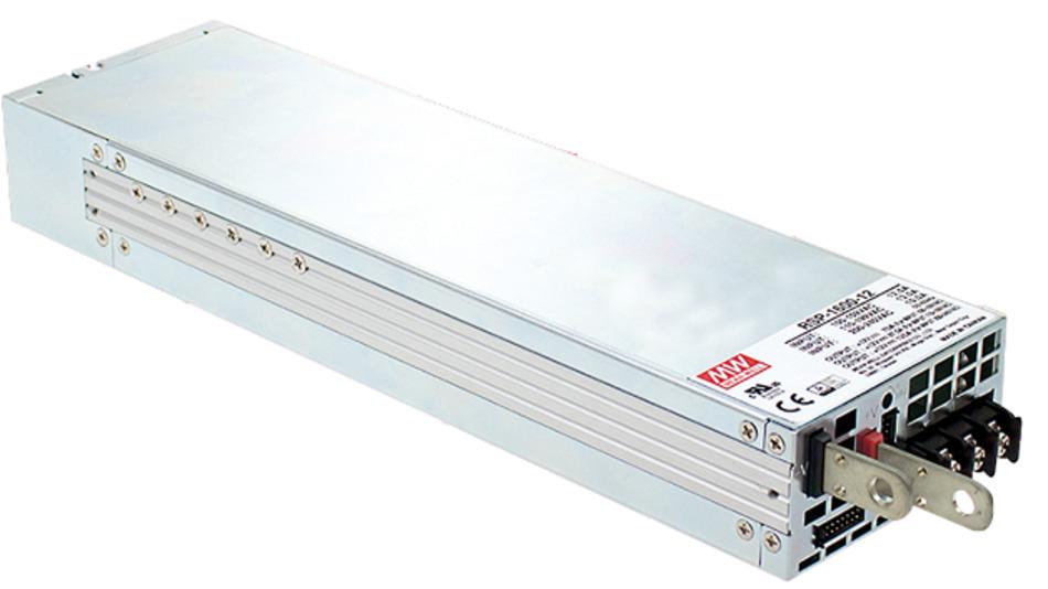 Die RxP-1600 Serie von MeanWell liefert 1600 W Leistung bei einer Leistungsdichte von 25 W/inch³.