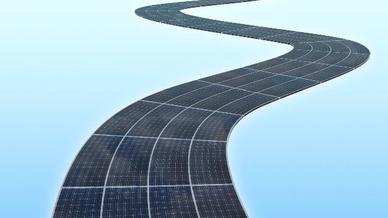 Die Stromerzeugung auf der Solarstraße wird auf 280.000 kWh pro Jahr geschätzt.