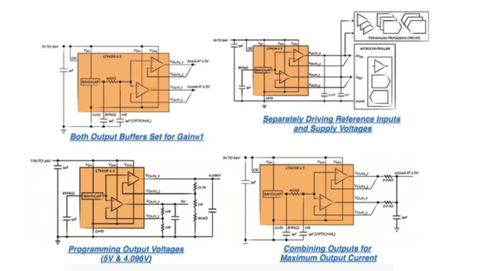 Typische Konfigurationen für den LT6658