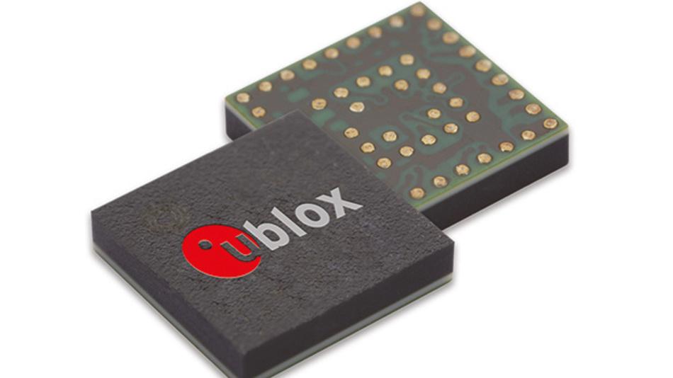 Nur 0,04 g Masse hat das GNSS-Modul ZOE-M8G der u-blox AG im CSP mit 51 Anschlüssen als S-LGA (Soldered Land Grid Array).