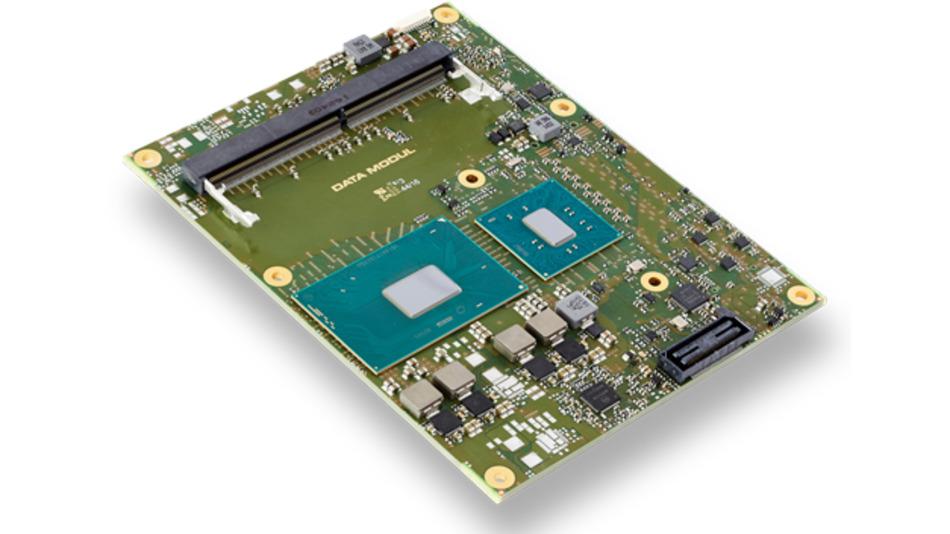 Das COM Express Basic Type-6-Modul eDM-COMB-KL6 ist mit Intel Core i3/i5/i7 und Xeon-E3-Prozessoren der siebten Generation bestückt.