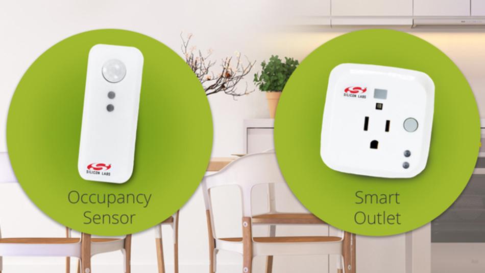 Zwei neue Referenzdesigns für den Bereich Haustechnik hat Silicon Laboratories entwickelt – einen  funkbasierten Präsenzmelder und eine per Funk gesteuerte Steckdose.