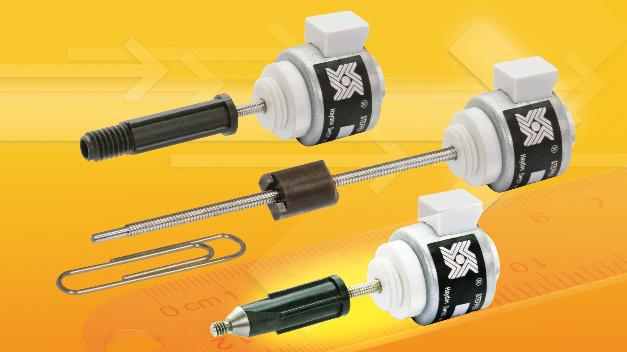 Auf nur 15 mm Durchmesser beschränken sich die Linearaktuatoren der Serie 15000 von Haydon Kerk Motion Solutions.