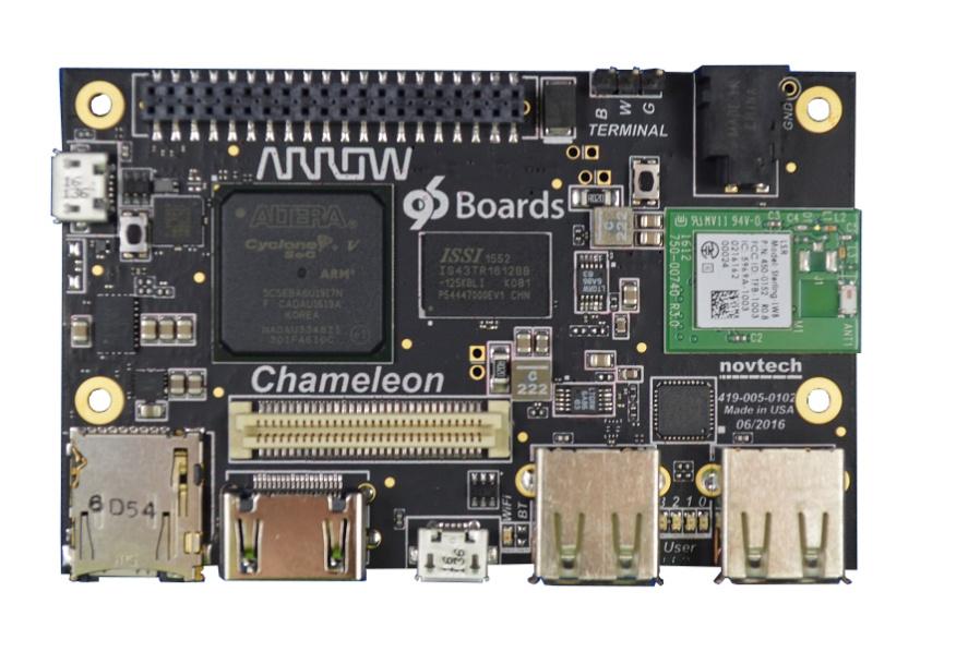 Chameleon96-Board von Arrow Electronics.