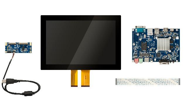 Die neue HMI Systemplattform VAB-360 kombiniert Motherboard und Touchscreen.