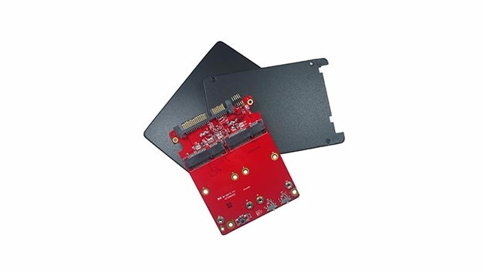 RAID-1-Controller für zwei Flash-Speicher-Module.im M.2-Format.