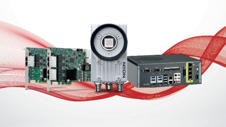 Vier neue Bildverarbeitungs-Geräte von Adlink Technology auf einen Streich: die Bilderfassungskarten PCIe-GIE72 und PCIe-GIE74, die Smart Camera NEON-1021 sowie das Compact-Vision-System EOS-1300.