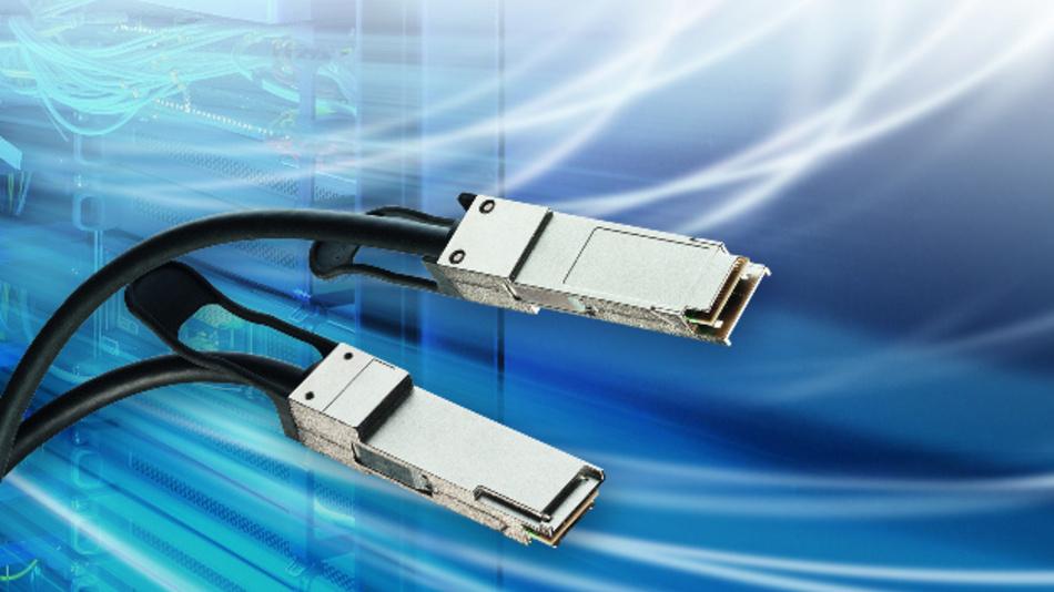 QSFP-Kabelsystem übertragt 200 G über Kupfer