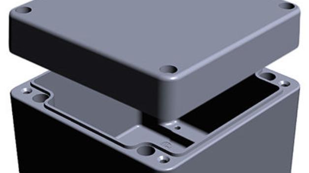 Das Mehrzweck-Gehäuse aus lackiertem Aluminium erfüllt Schutzarten bis IP68 und IK09