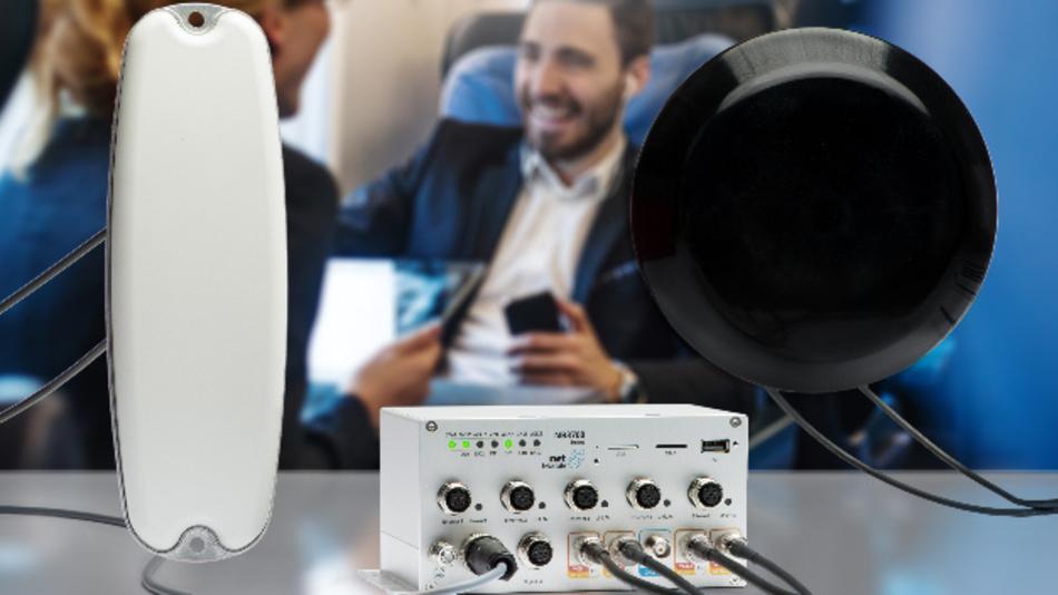 Das PWLAN-Kit von NetModule ermöglicht schnelleren Internetzugang in Bussen und Zügen.