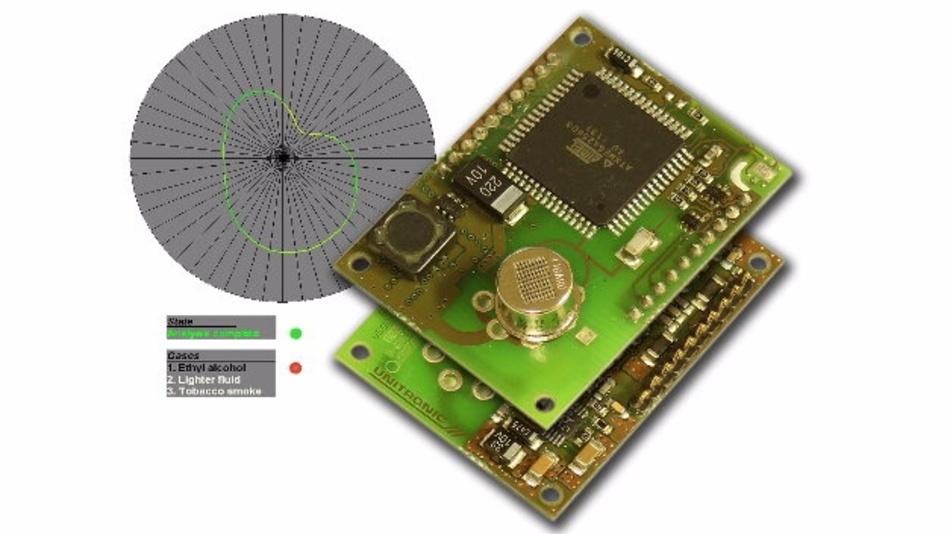 Das »virtuelle multifunktionale Gassensor-Array« (VGSA) von Unitronic nutzt einen einzigen Miniatur-Gassensor auf Basis eines oxidischen Halbleiters