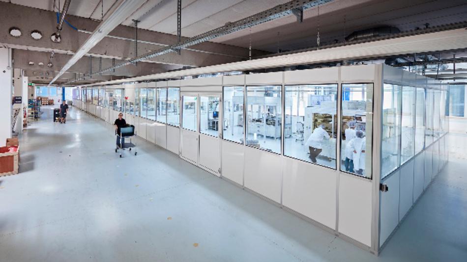Am Standort Weikersheim verfügt Data Modul über 400 qm Reinraumfläche.