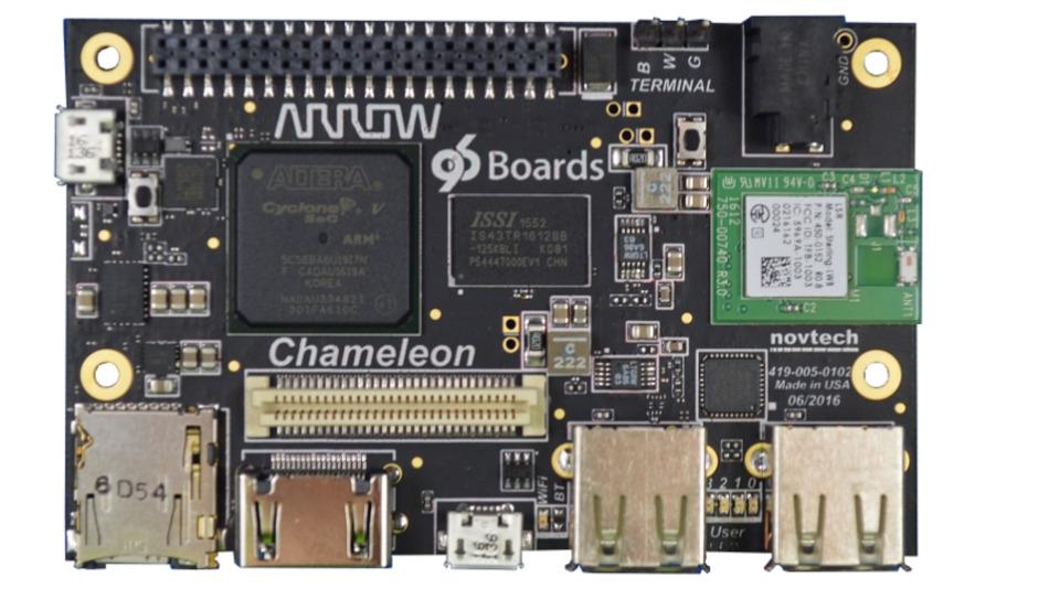 Eigenentwicklung mit 96Boards-Spezifikation: das Chamelon96 von Arrow