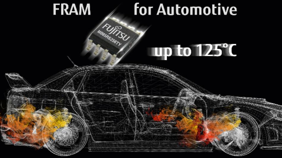 Die neuen 256-Kbit-FRAMs hat Fujitsu Electronics Europe für den Einsatz in Autos entsprechend AEC-Q100 ausgelegt