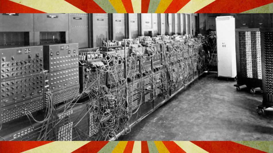 ENIAC (Electronic Numerical Integrator and Computer) war der erste rein elektronische Universalrechner.