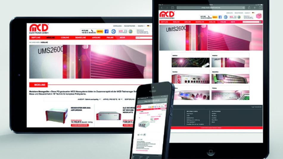Der MCD-Shop ist für die barrierefreie Bedienung auf allen gängigen, auch mobilen, Geräten optimiert.
