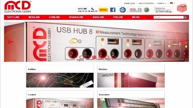 Auf schnelle Lieferung optimiert: Online-Shop der MCD Elektronik GmbH