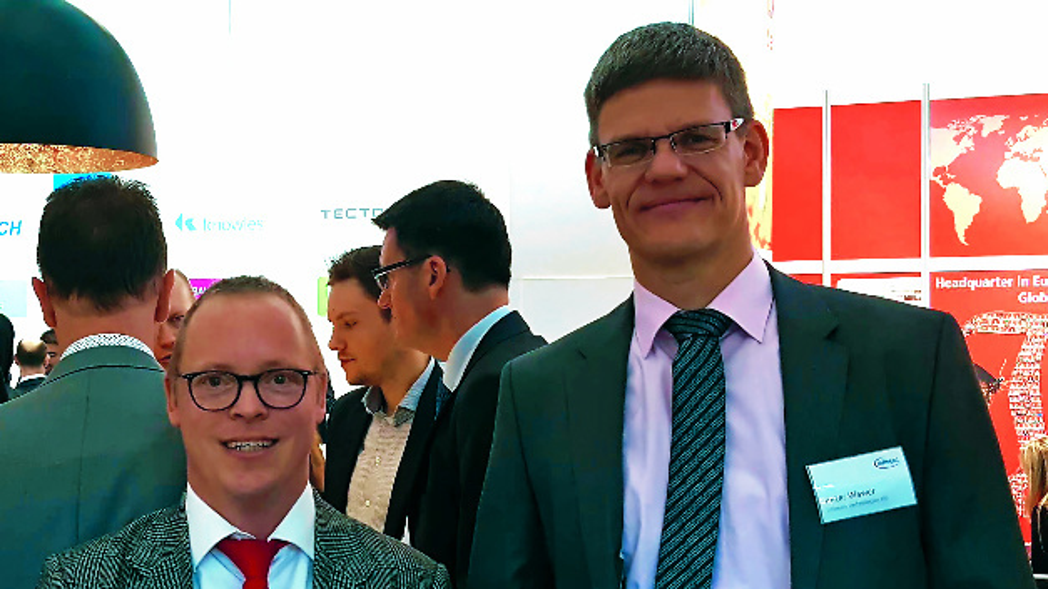 Unser Power-Redakteur Ralf Higgelke mit Dr. Peter Wawer (rechts), dem neuen Division President Industrial Power Control (IPC) bei Infineon Technologies.