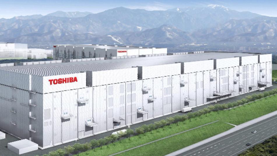So wird die neue Fab 6 von Toshiba für 3D-Flash-Speicher in Japan aussehen.