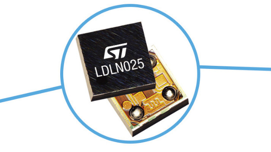 Der Low-Dropout-Regler LDLN025 von STMicroelectronics ist nur 0,63 x 0,63 mm² groß.