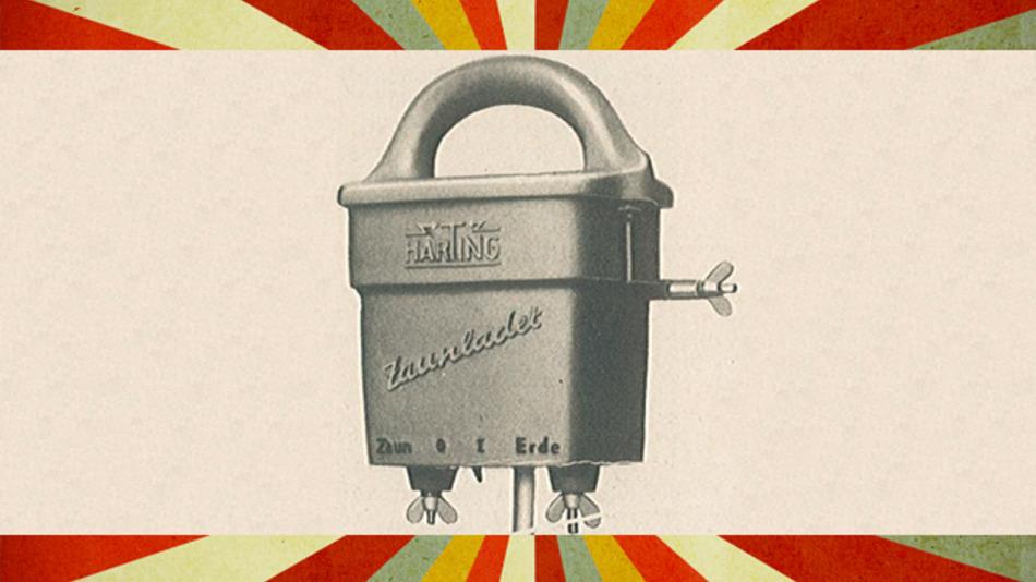 1954 setzte Harting noch Zäune unter Strom.