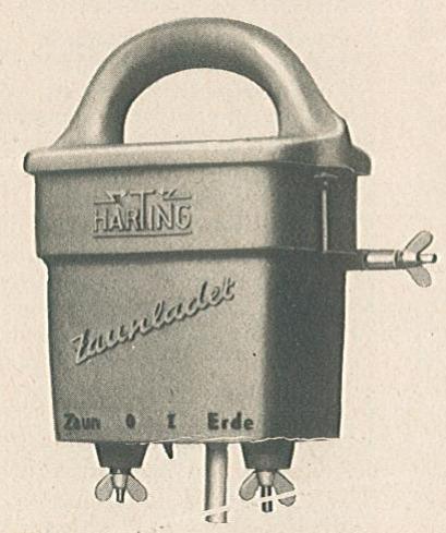 Bild 4. Ansicht des batteriebetriebenen Zaunladers von Harting